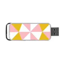 Learning Connection Circle Triangle Pink White Orange Portable Usb Flash (one Side) by Alisyart