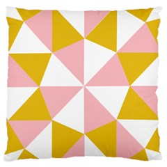 Learning Connection Circle Triangle Pink White Orange Standard Flano Cushion Case (one Side) by Alisyart