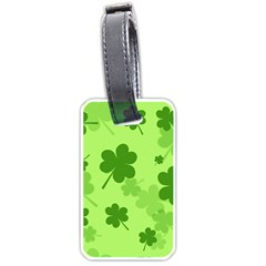 Leaf Clover Green Line Luggage Tags (one Side)  by Alisyart