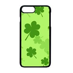 Leaf Clover Green Line Apple iPhone 7 Plus Seamless Case (Black) by Alisyart