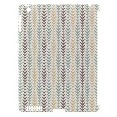 Leaf Triangle Grey Blue Gold Line Frame Apple Ipad 3/4 Hardshell Case (compatible With Smart Cover) by Alisyart