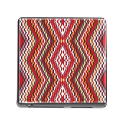 Indian Pattern Sweet Triangle Red Orange Purple Rainbow Memory Card Reader (square) by Alisyart