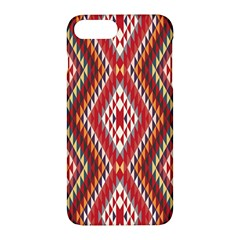 Indian Pattern Sweet Triangle Red Orange Purple Rainbow Apple Iphone 7 Plus Hardshell Case by Alisyart