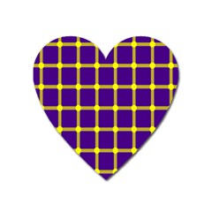 Optical Illusions Circle Line Yellow Blue Heart Magnet by Alisyart