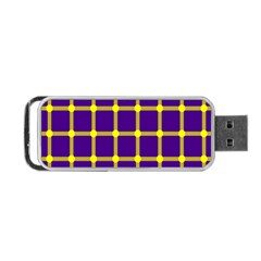 Optical Illusions Circle Line Yellow Blue Portable Usb Flash (one Side) by Alisyart