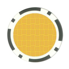 Plaid Line Orange Yellow Poker Chip Card Guard (10 Pack) by Alisyart