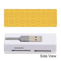 Plaid Line Orange Yellow Memory Card Reader (stick)  by Alisyart
