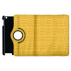 Plaid Line Orange Yellow Apple Ipad 2 Flip 360 Case by Alisyart