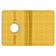 Plaid Line Orange Yellow Kindle Fire Hdx Flip 360 Case by Alisyart