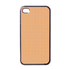 Orange Tablecloth Plaid Line Apple Iphone 4 Case (black) by Alisyart
