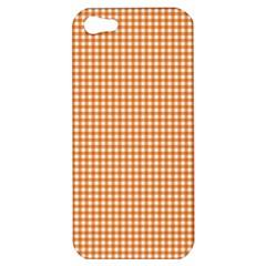 Orange Tablecloth Plaid Line Apple Iphone 5 Hardshell Case by Alisyart