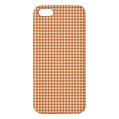 Orange Tablecloth Plaid Line Iphone 5s/ Se Premium Hardshell Case by Alisyart
