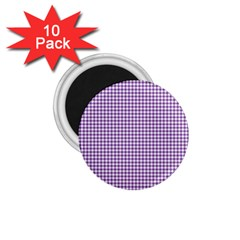 Purple Tablecloth Plaid Line 1 75  Magnets (10 Pack)  by Alisyart