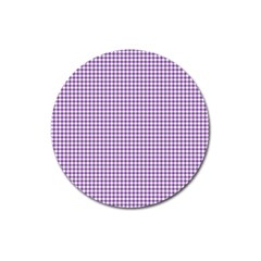 Purple Tablecloth Plaid Line Magnet 3  (round) by Alisyart