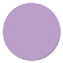 Purple Tablecloth Plaid Line Magnet 5  (round) by Alisyart