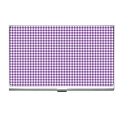 Purple Tablecloth Plaid Line Business Card Holders by Alisyart