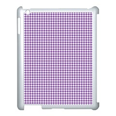 Purple Tablecloth Plaid Line Apple Ipad 3/4 Case (white) by Alisyart