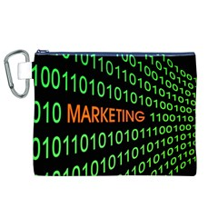 Marketing Runing Number Canvas Cosmetic Bag (xl) by Alisyart