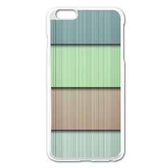 Modern Texture Blue Green Red Grey Chevron Wave Line Apple Iphone 6 Plus/6s Plus Enamel White Case by Alisyart