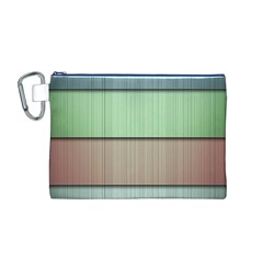 Modern Texture Blue Green Red Grey Chevron Wave Line Canvas Cosmetic Bag (m) by Alisyart