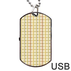 Tomboy Line Yellow Red Dog Tag Usb Flash (one Side) by Alisyart