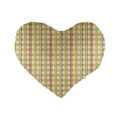 Tomboy Line Yellow Red Standard 16  Premium Flano Heart Shape Cushions by Alisyart
