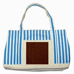 Coloured Line Squares Plaid Triangle Brown Line Chevron Striped Blue Tote Bag by Alisyart