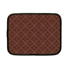 Coloured Line Squares Plaid Triangle Brown Line Chevron Netbook Case (small)  by Alisyart