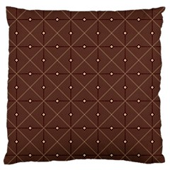 Coloured Line Squares Plaid Triangle Brown Line Chevron Standard Flano Cushion Case (one Side) by Alisyart