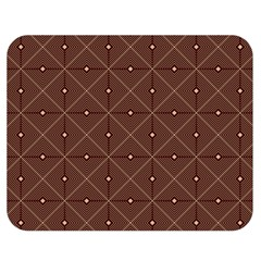 Coloured Line Squares Plaid Triangle Brown Line Chevron Double Sided Flano Blanket (medium)  by Alisyart