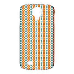 Sunflower Orange Gold Blue Floral Samsung Galaxy S4 Classic Hardshell Case (pc+silicone) by Alisyart
