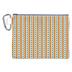 Sunflower Orange Gold Blue Floral Canvas Cosmetic Bag (xxl) by Alisyart
