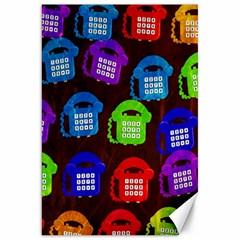 Grunge Telephone Background Pattern Canvas 20  X 30   by Amaryn4rt