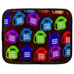 Grunge Telephone Background Pattern Netbook Case (xxl)  by Amaryn4rt