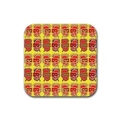 Funny Faces Rubber Square Coaster (4 Pack)  by Amaryn4rt