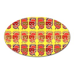 Funny Faces Oval Magnet by Amaryn4rt