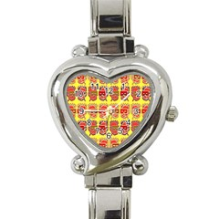 Funny Faces Heart Italian Charm Watch by Amaryn4rt