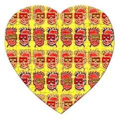 Funny Faces Jigsaw Puzzle (heart) by Amaryn4rt