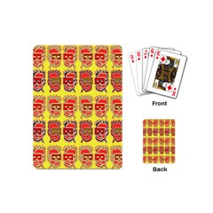 Funny Faces Playing Cards (mini)  by Amaryn4rt