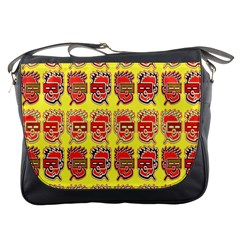 Funny Faces Messenger Bags by Amaryn4rt