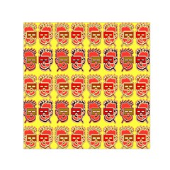 Funny Faces Small Satin Scarf (square) by Amaryn4rt