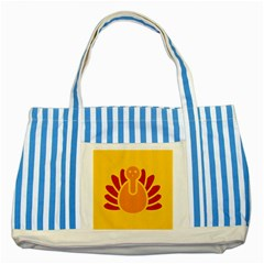 Animals Bird Pet Turkey Red Orange Yellow Striped Blue Tote Bag by Alisyart