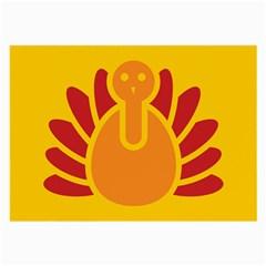 Animals Bird Pet Turkey Red Orange Yellow Large Glasses Cloth (2 Side) by Alisyart