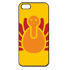 Animals Bird Pet Turkey Red Orange Yellow Apple Iphone 5 Seamless Case (black) by Alisyart