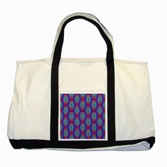 Red Blue Bee Hive Pattern Two Tone Tote Bag by Amaryn4rt