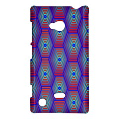 Red Blue Bee Hive Pattern Nokia Lumia 720 by Amaryn4rt