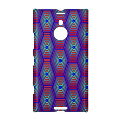 Red Blue Bee Hive Pattern Nokia Lumia 1520 by Amaryn4rt