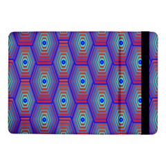 Red Blue Bee Hive Pattern Samsung Galaxy Tab Pro 10 1  Flip Case by Amaryn4rt