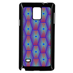 Red Blue Bee Hive Pattern Samsung Galaxy Note 4 Case (black) by Amaryn4rt