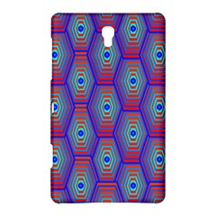 Red Blue Bee Hive Pattern Samsung Galaxy Tab S (8 4 ) Hardshell Case  by Amaryn4rt